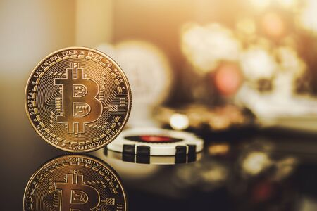 Casino and Bitcoin Cryptocurrency Acceptance. Modern Alternative Method of Payments. Business Industry.