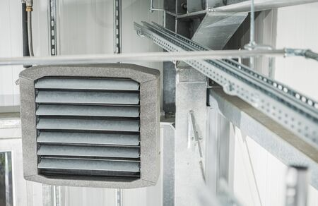 Wall Mount Heavy Duty Commercial Warehouse Heating Device. Heating and Cooling Inside Large Rooms.