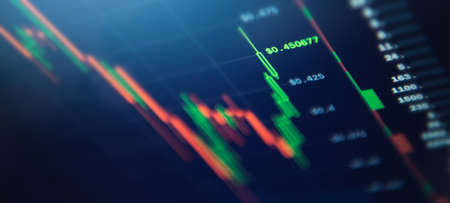 Cryptocurrency Trading Platform Software. Daily Traders Screen Concept. Business and Modern Crypto Financial Theme.