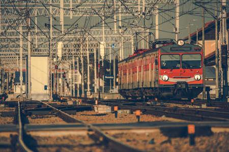 Local Intercity Passenger Train on the Lesser Poland Route. Rail Transportation Theme. Фото со стока