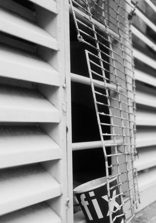 lattice window: Broken lattice on the window