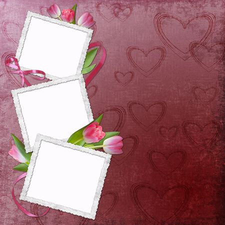 Lovely frame for Valentine's day Stock Photo - 6297022