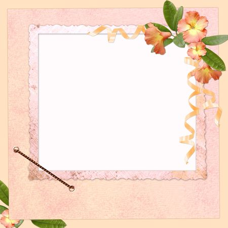 Abstract background with frame and flowers  Zdjęcie Seryjne