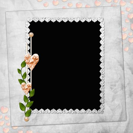 Abstract background with frame and heart