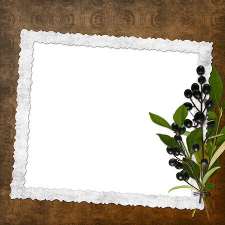 Framework for invitations on the vintage background. photo