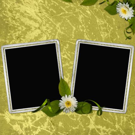 background with frame and flowers  photo