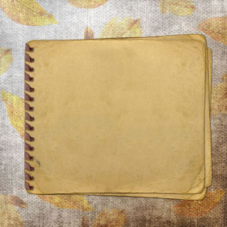 old paper on textured background Stock Photo - 6423369