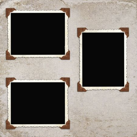 vintage background with frames photo