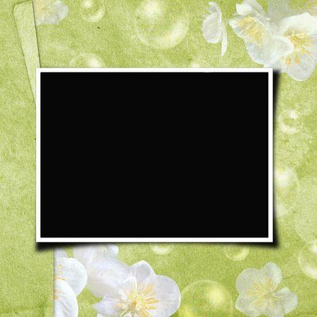 spring coat: Framework for photo or invitation  Stock Photo