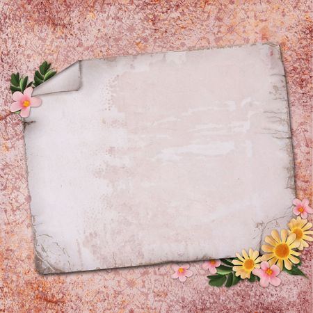 vintage paper on textured background Stock Photo - 6442024