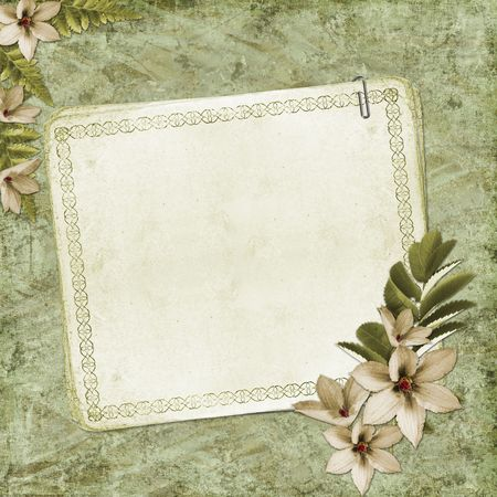 blank note paper on textured background Stock Photo - 6468050