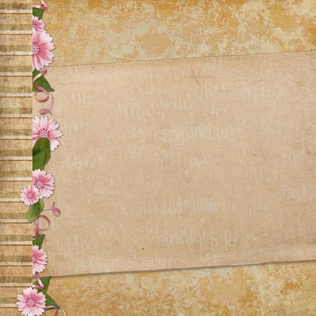 old paper on textured background Stock Photo - 6468039