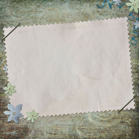 Grunge paper design for information in scrapbooking style  Stock Photo - 6501436