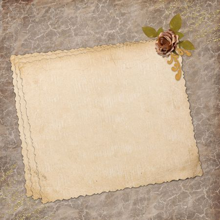 blank note paper on textured background Stock Photo - 6551500