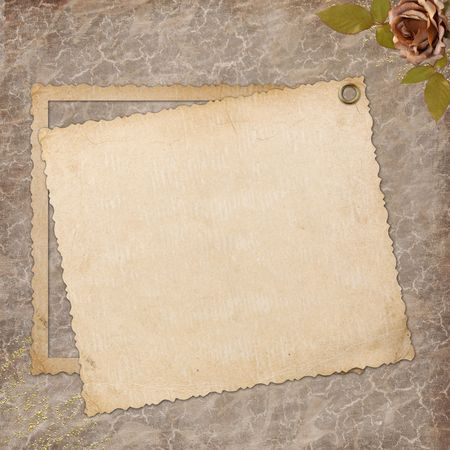 Grunge paper design for information in scrapbooking style Stock Photo - 6551483