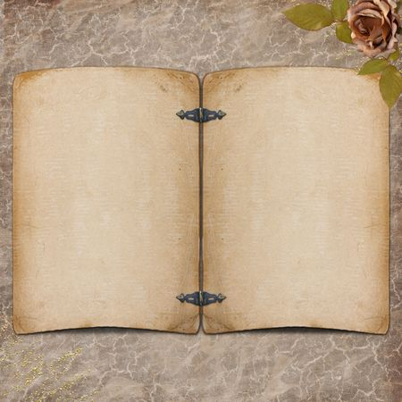 Grunge paper design for information in scrapbooking Stock Photo - 6551498