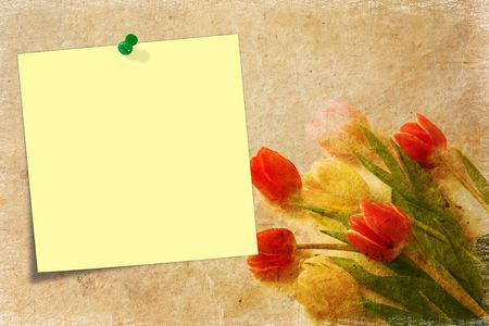 blank note paper on textured background Stock Photo - 6551506