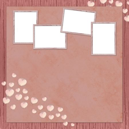 background with frames and hearts photo