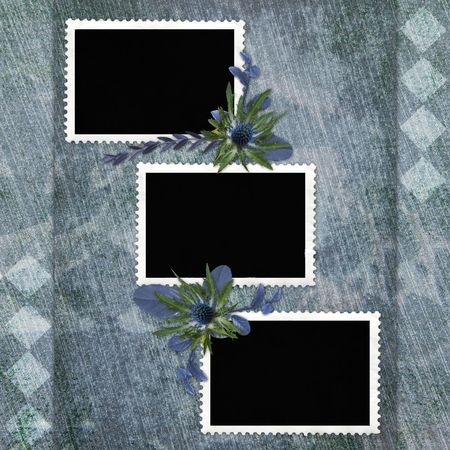picture-frames on abstract background Stock Photo - 6606256