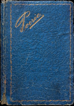 Old bookes cover isolated on black background photo
