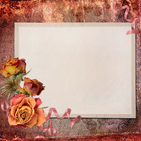 blank note paper on textured background Stock Photo - 6655222
