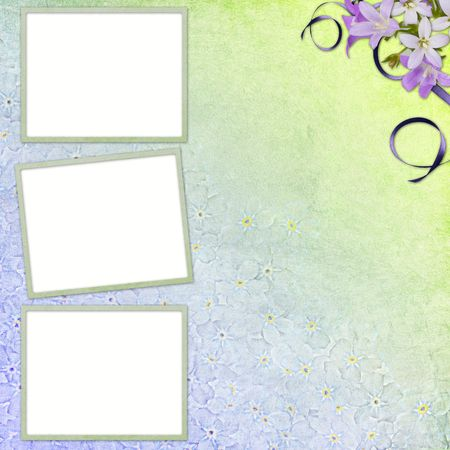 snapshot: picture-frames on abstract background