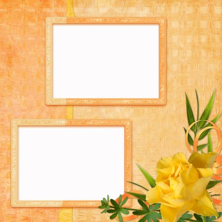 picture-frames on abstract background photo
