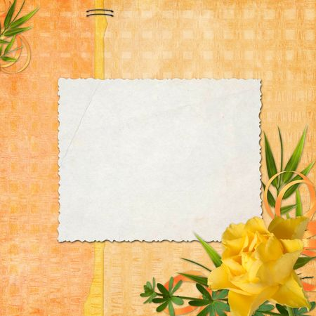 blank note paper on textured background Stock Photo - 6692470