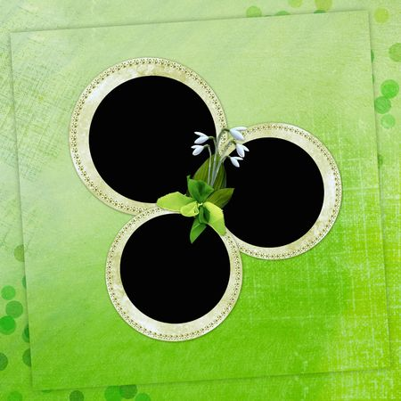Spring background with circle frames photo