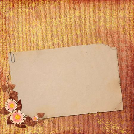 old paper on textured background Stock Photo - 6757679