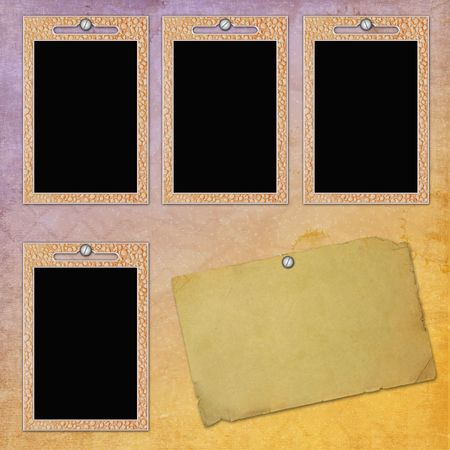 picture-frames on textured background photo