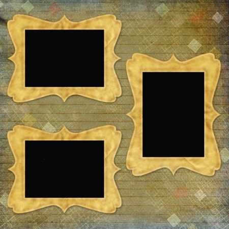 retro background with decorative frames photo