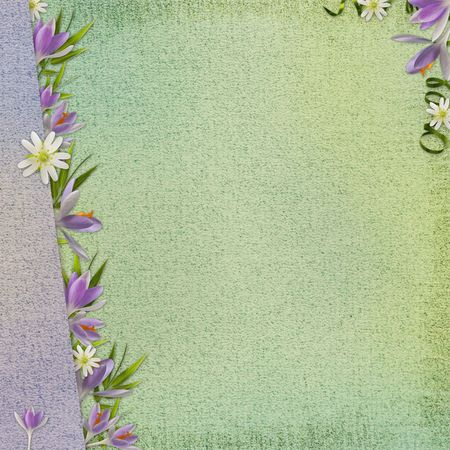 Spring background with flowers photo