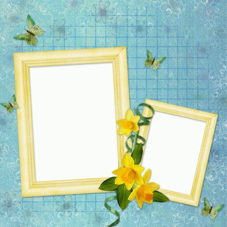 spring background with frames Stock Photo - 6757749