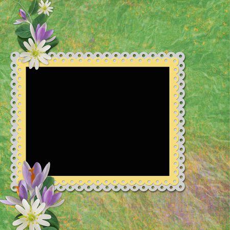 mauve: Framework for photo or congratulation  Stock Photo