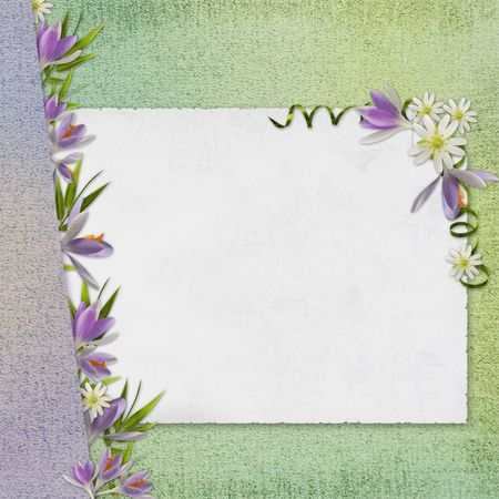 crocus: Grunge paper design for information in scrap-booking style