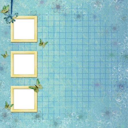 Floral background with frames photo
