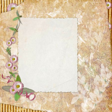 blank note paper on textured background Stock Photo - 6825458