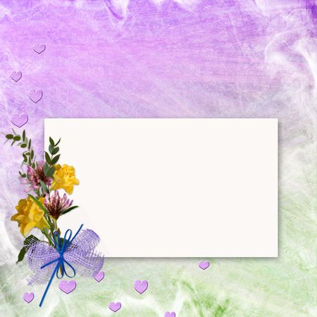 mauve: Grunge paper design for information in scrap-booking style