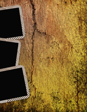 home page: vintage frames on wooden background