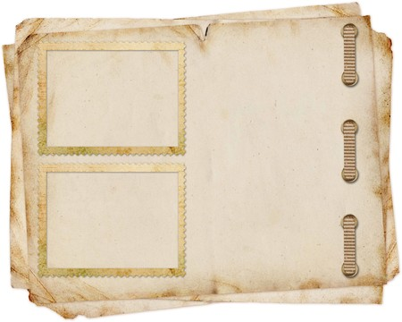 vintage paper with  frames photo