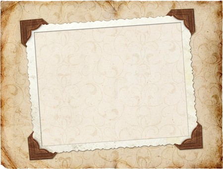 scrapbook cover: Framework for invitation or congratulation