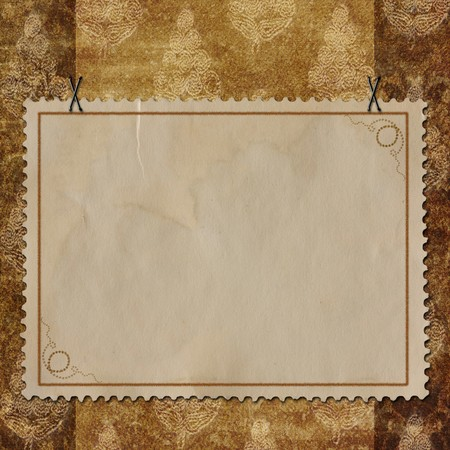 docket: Grunge paper design for information in scrap-booking style