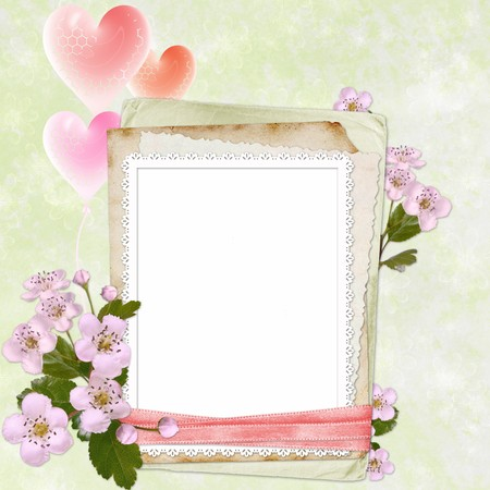 Framework for photo or congratulation  Reklamní fotografie