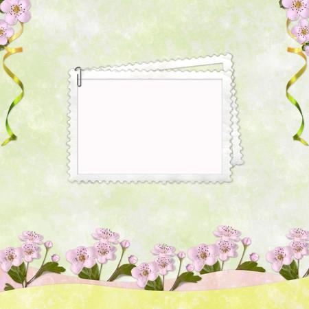 Framework for invitation or congratulation. photo