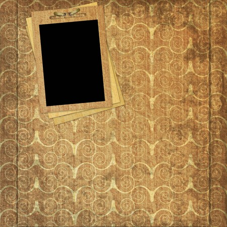 decorative vintage paper with frame photo