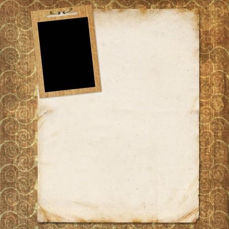 Framework for photo or invitation  Stock Photo