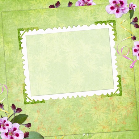 frayed: Framework for invitation or congratulation. Stock Photo
