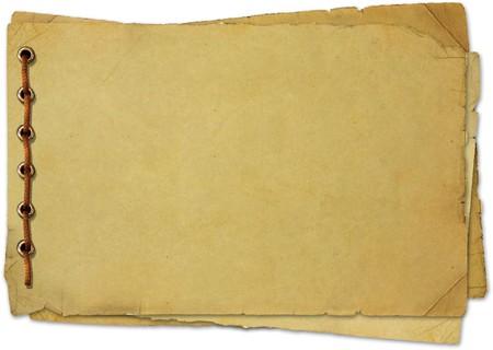 cartas antiguas: antiguo documento sobre fondo blanco
