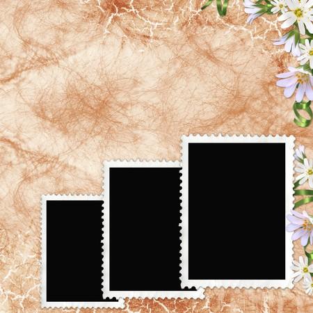 retro background with decorative frame photo